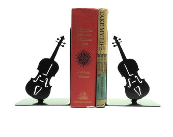 Violin Metal Art Bookends - Free USA Shipping