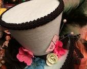 Mint Pink and Blue Mini Top Hat Fasinator