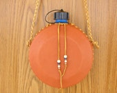 "Sedona Canteen, 32 ounce,  wrapped in deerskin leather, with honey lacing, 36"" lariat strap, hand stitched with trade beads"