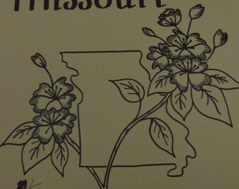 Marvelous Missouri/Counted Cross Stitch Pattern/Creative Keepsakes/1983/State Sampler/Bird/Flower/More