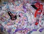 "51 yards 7/8"" printed grosgrain ribbon - surprise - mystery colors- 3 yard cuts"