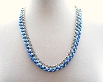Blue & Silver Friendship Necklace