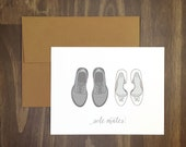 mr and mrs wedding congrats card / sole mates wedding shoes / bride and groom / marriage congrats / perfect couple / soulmates / wedding day