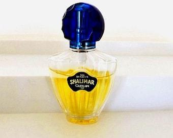Vintage Gurlain Shalimar Perfume, Vintage Cologne, Collectible Fragrance, Designer Perfume Bottle, Vanity Decor, Bath and Beauty