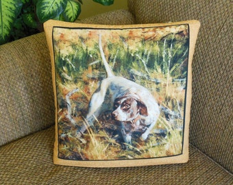 Hunting Dogs QUILLOW - the quilt that folds into a pillow  - spaniel DOG quilt