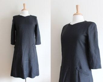 Vintage William Pearson Black Shift Dress