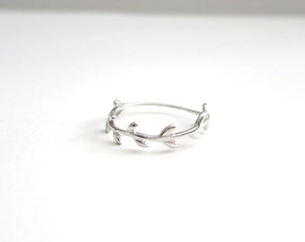 Branch Halo Ring- Sterling Silver