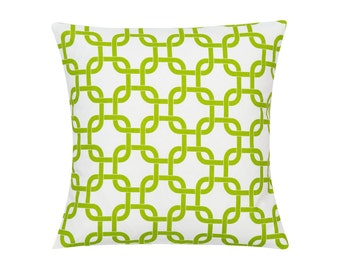 LIME GREEN Pillow Cover.Decorator Pillow Cover.Home Decor.Large Print.GOTCHA.Cushions. Cushion.Pillow. Premier Prints