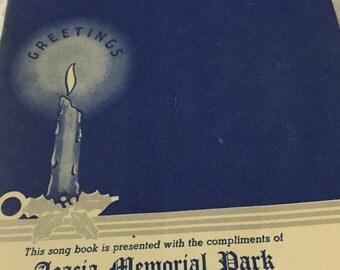 1941 Christmas Customs and Carols Acacia Memorial Park Seattle Washington booklet songs carols customs christmas hiliday blue booklet