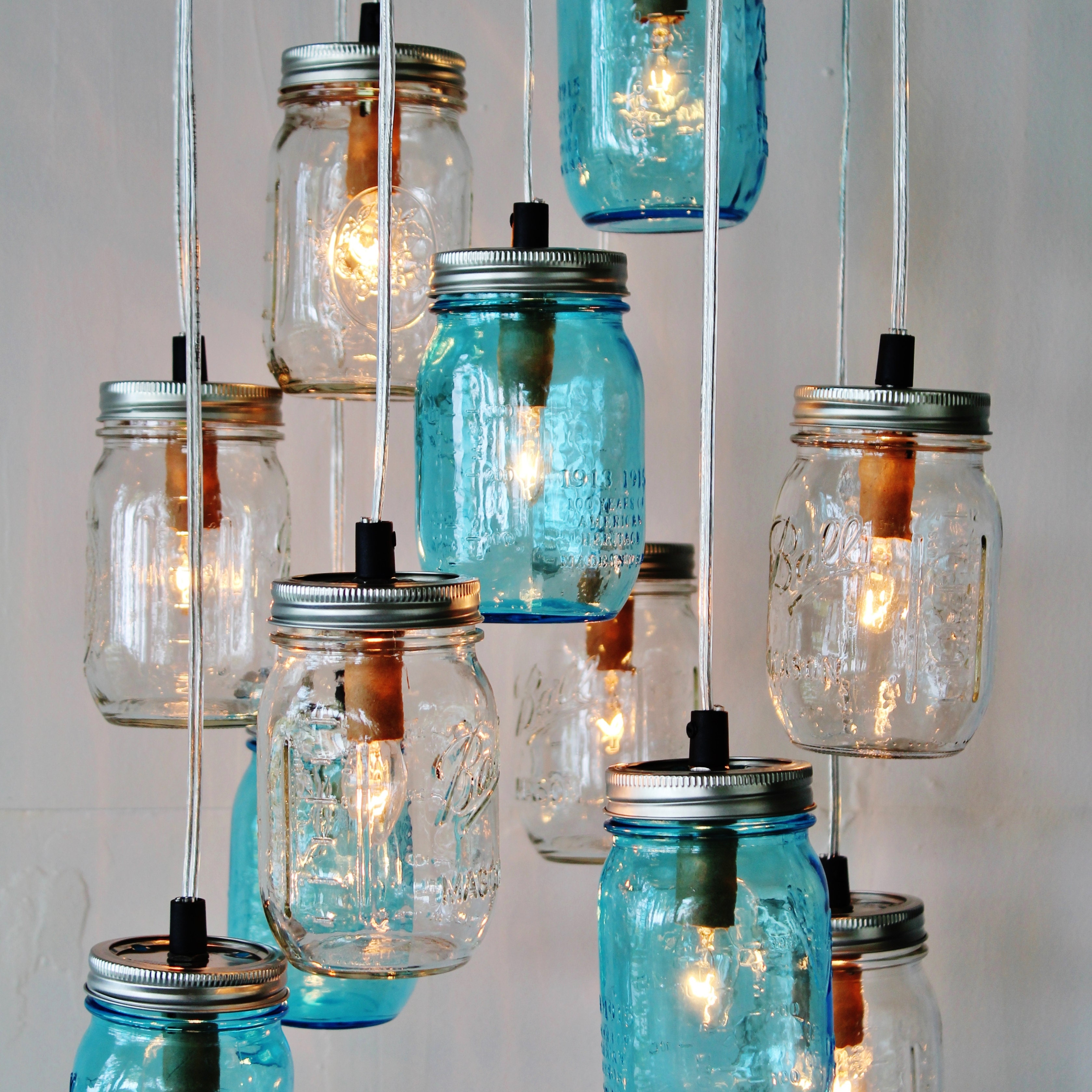 modern lighting mason jar chandeliers and more by bootsngus. Black Bedroom Furniture Sets. Home Design Ideas