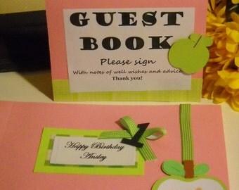 Apple Birthday Guest Book Album