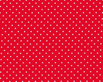 Red Pinhead Fabric from Michael Miller Fabrics - 1/2 Yard - Half Yard - Red and White - Pin Dots - CX5514-REDX-D