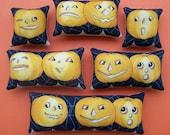 Set of 6 Primitive Retro Halloween Pumpkin Ornies
