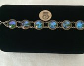Vintage Blue Morpho Butterfly Wing Bracelet...Tropical Beach Wedding...Bridesmaids Gift  #5