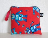 HALF PRICE SALE Robots Credit Card/Coin Purse
