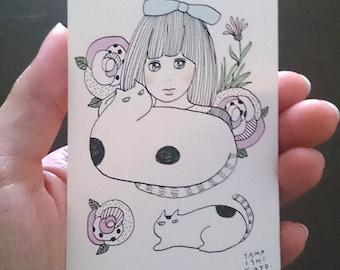 "ACEO - Original Drawing - ""My precious friend"""
