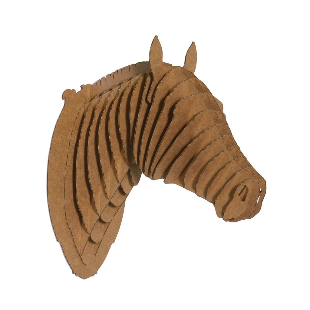 Pippin Jr Medium Cardboard Horse Head on cardboard laser lights