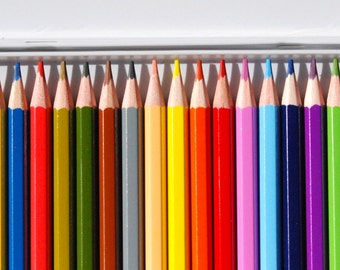 Watercolor pencils, drawing pencils, 24 pencil set, wet or dry, Scrapbooking, fine art supplies, colored pencils, drawing kit,