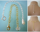 Necklace Extender, Backdrop Extender, Necklace Extension, Chain Lengthener, Bracelet Extender, Gold Tone, Silver Tone, Chain Extender