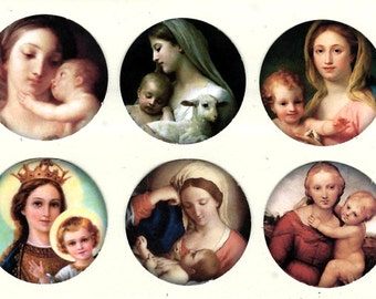 Stickers, Religious Images, Madonna Stickers, Mother & Child, Religious