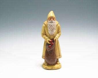Hand Painted Chalkware Santa Yelloware Santa Chalkware Belsnickle Santa Chalkware Yelloware Santa Yellow Ware Santa