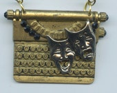 Playwrights Vintage Typewriter Pendant With Theatre Masks