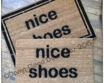 TWO LINES nice shoes doormat