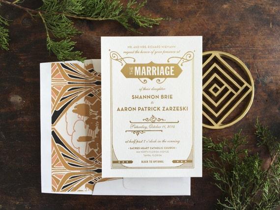 Gatsby Wedding Invites