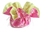 Bridesmaid Gift / Jewelry Pouch / Travel Roll / Earring Necklace and Bracelet Holder / Drawstring Amy Butler fabric