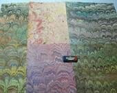 marbled  paper, card making,   Pack 6 scrapbook , papier marbrè , marmorpapier.  -  9,75