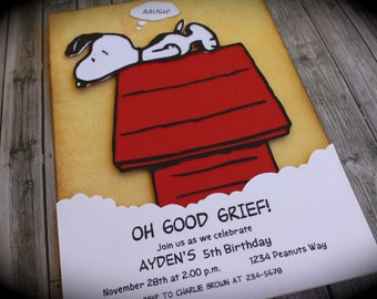 SNOOPY/Charlie Brown invitation for any occasion
