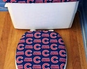 Chicago Cubs Toilet Seat Cover and Tank Lid Cover Set