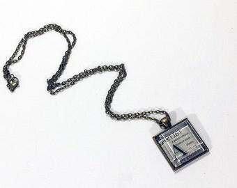 "1"" Square Glass Tile Pendant - Artist"
