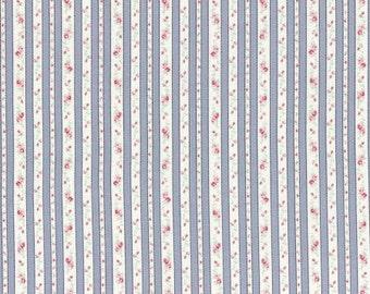 Petit Fleur Cotton Fabric Tiny Rose Gray Ticking by Lecien 31217-90