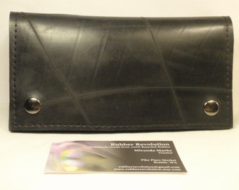 Handmade Recycled Rubber Long Wallet