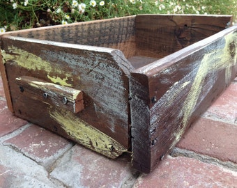 Salvaged - Reclaimed Wood - Rustic Wood Box - Home Decor - Storage - Organization - Organize - Remote Control Caddie - Wooden Box - Handmade