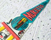 Vintage Mukilteo, Washington Souvenir Felt Pennant (1970s)