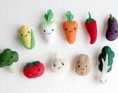Vegetable Felt Brooch Pin - (Select one)