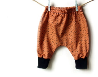 Baby Harem Pants, baby clothes, Adventure in Bark Arrows cotton trousers