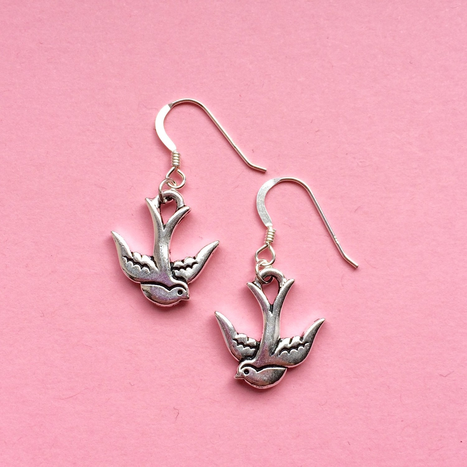 bird jewelry silver bird earrings bird jewelry animal jewellery 7678