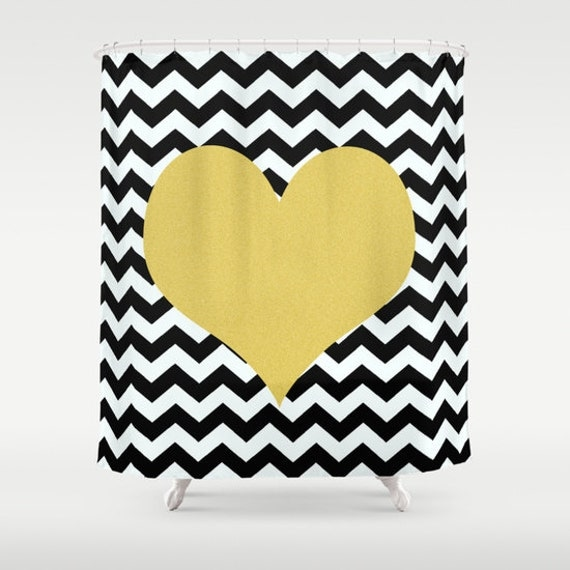 items similar to chevron shower curtain black and white