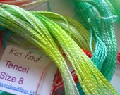 Koi Pond Hand Dyed Tencel Size 8