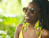 Kente Queen- Statement earrings- Reserved for reinamorena