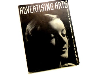 Advertising Arts Magazine. Modernism. Fashion. Great Ads. Scarce. Collectible. Jan 1932 Early Commercial Graphics Arts Magazine.