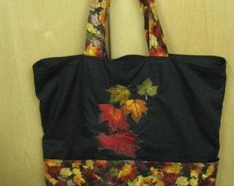 Fall Leavea Eco Friendly Tote, Purse, Bag