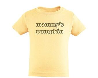 """Apericots Cute """"Mommy's Pumpkin"""" Fun Halloween Unisex Soft Cotton Kids T-Shirt"""