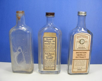 Vintage Bottles Watkins, Rawleigh's and Rexall Old Bottle Collection