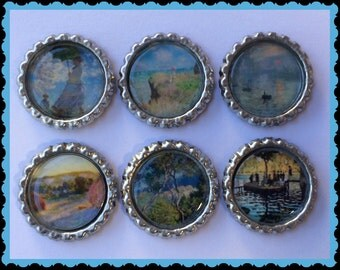 Claude Monet fridge magnets