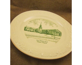 Grace Methodist Church, Baltimore Maryland Homer Laughlin Souvenir Plate by World-Wide Art Studio – Vintage Souvenir Plate