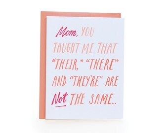 Mother's Day Grammar Card